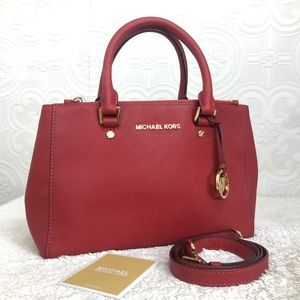 🌸OFFERS?🌸Michael Kors Leather Red Satchel